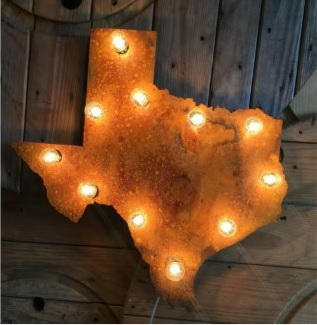 Texas State Lighted Art $145