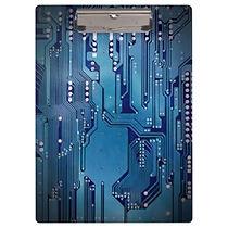 cool blue circuit board clipboard