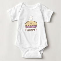 cutie pie kawaii pie baby bodysuit