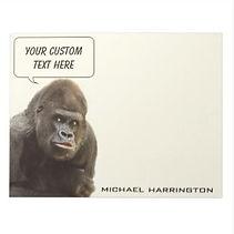 funny gorilla custom notepad