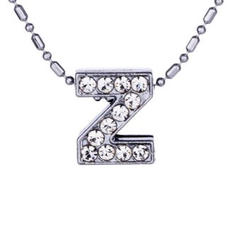 Crystal Initial Necklace $19.99