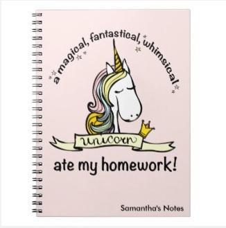 Unicorn Notebook $14.40