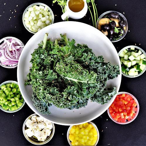 DIY: Greek Kale Salad (Serves 2-3) (Approx: $8.80/pax)