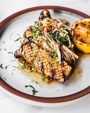 Grilled Enoki & King Oyster Mushroom