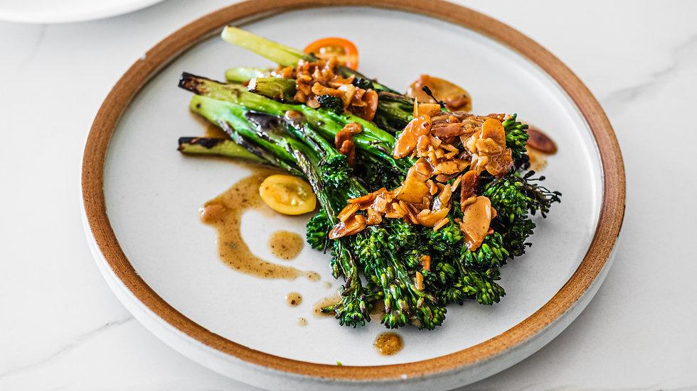 Grilled Kombu Almond Broccolini