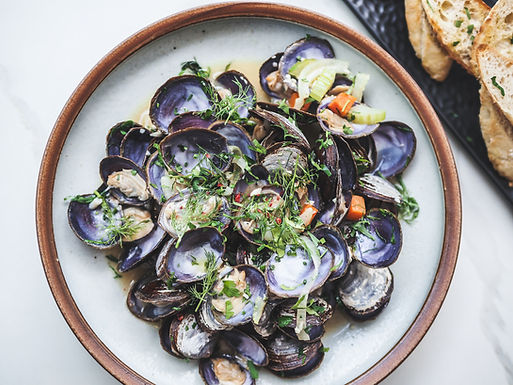 Canadian Savoury Purple Clams with Baguette (500g)