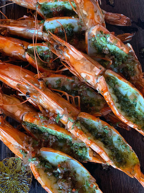Green Harissa Argentina King Prawn 5pcs (Serves 2-3)