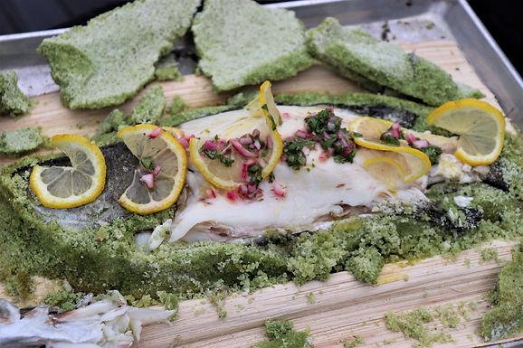 DIY: Salt-Baked Fish On Opeh Leaf (Serves 2-3) (Approx: $13.10/pax)