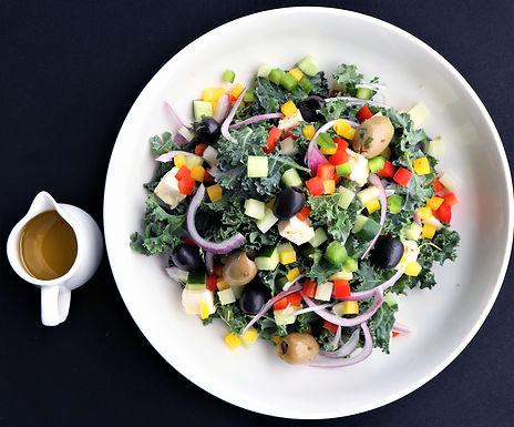Greek Kale Salad (Serves 2-3)