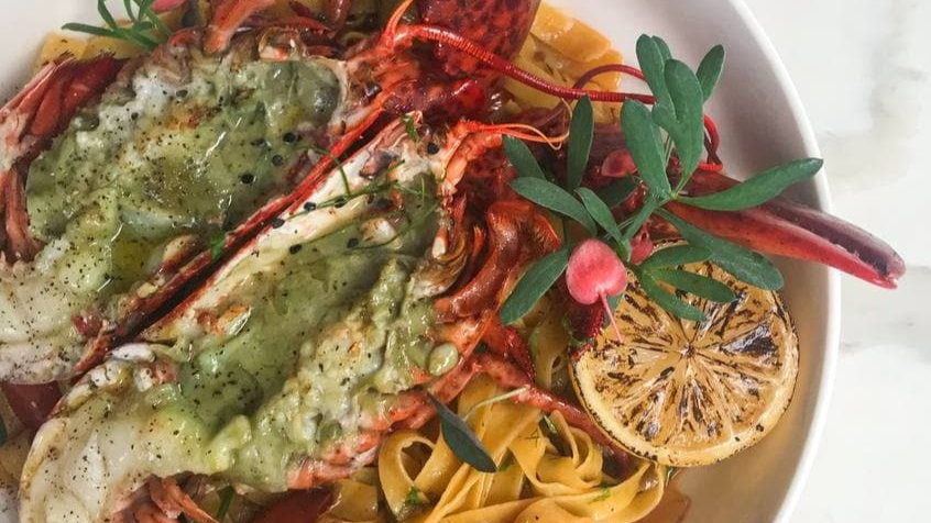 Live Boston Lobster Fettuccini For 2
