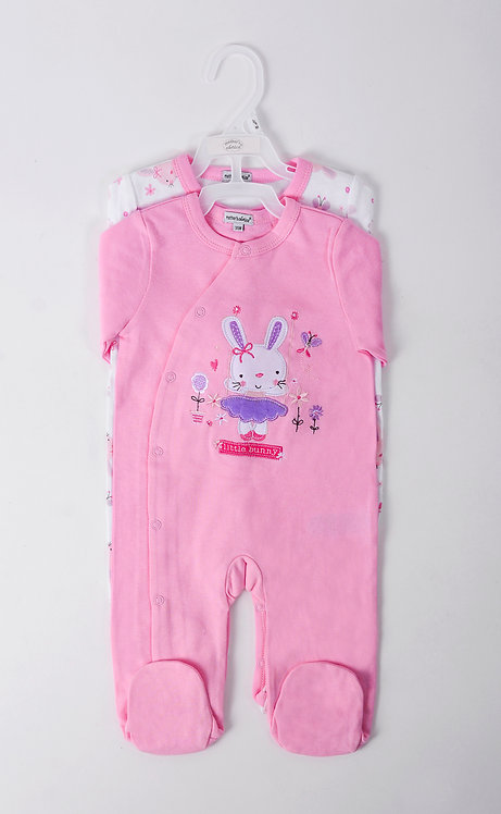 2 pack footed bodysuits