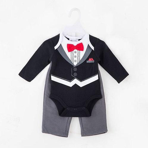 Tuxedo Look Sleepsuit / Baby grower