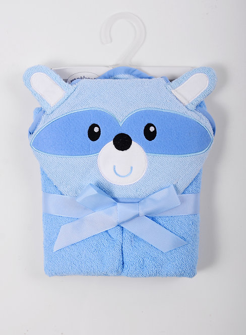 Racoon Hooded Towel with 3D Animal Hood