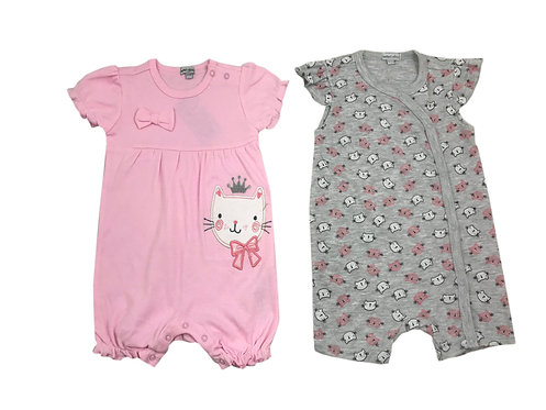 2 pack Short Rompers