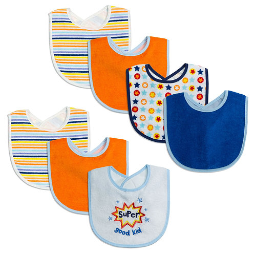 Pack of 7 daily bibs