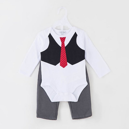 Tuxedo Look Sleepsuit / Baby grower