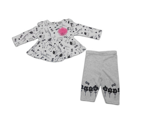 Baby Dress with Leggings - upto 9 months