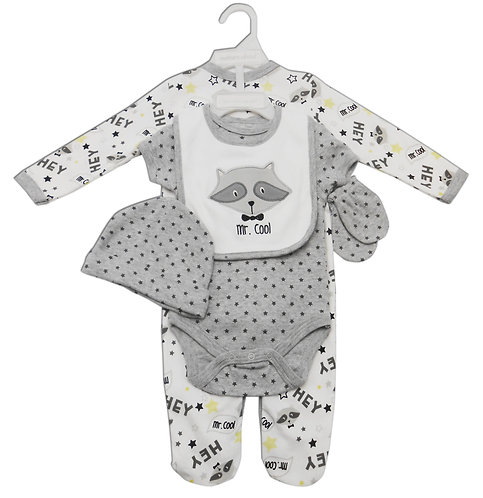 5 pieces Infant Layette Gift Set
