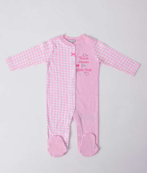 Pink footed Pyjama/ Romper