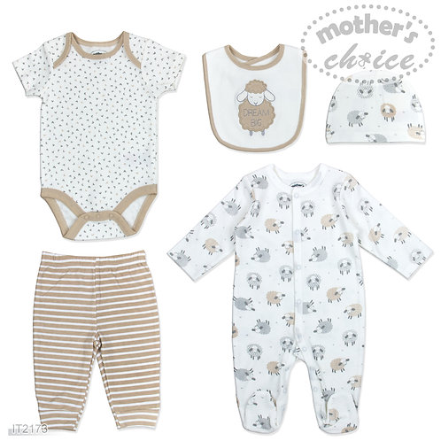 5 pc Starter Layette Set Set