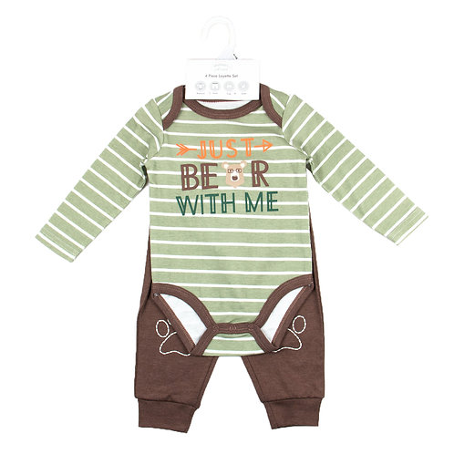 Baby 3 pc Set - Bodysuit, Pants and Beanie
