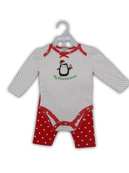 My First Christmas Onesie and Pants Set