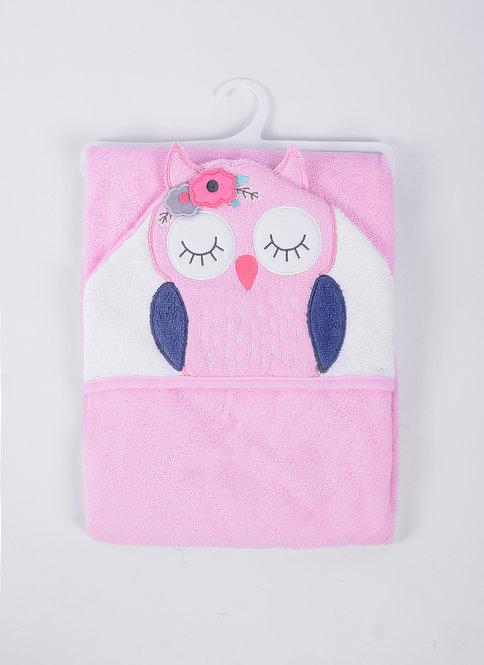 3D Hooded Towel  - Owl