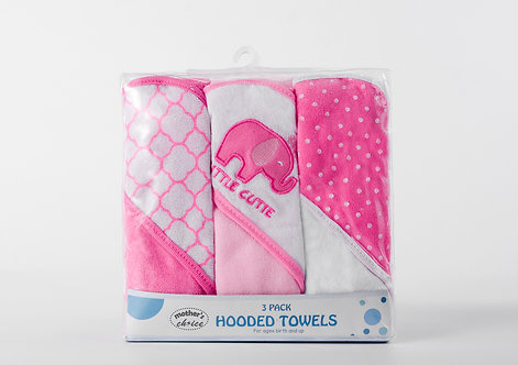 Pack of 3 Hooded Towels