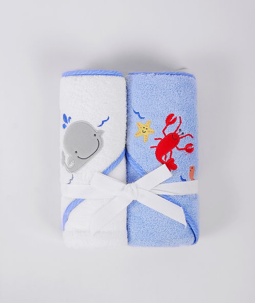 Pack of 2 Thick Cotton Hooded Towels