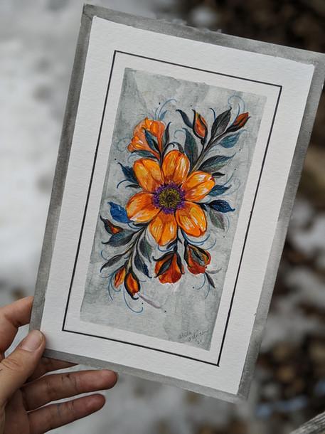 """Spring Orange Blossom 6""""x 9"""""""