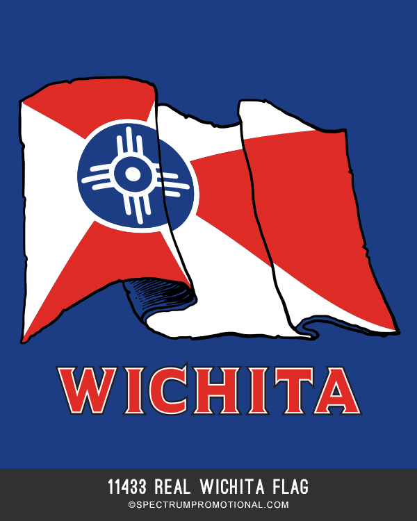 11433 REAL WICHITA FLAG