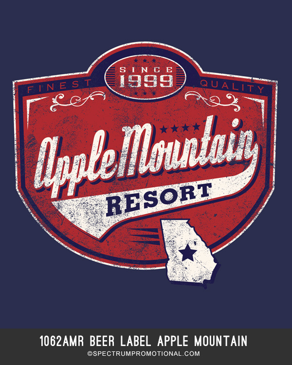 1062AMR Beer Label Apple Mountain