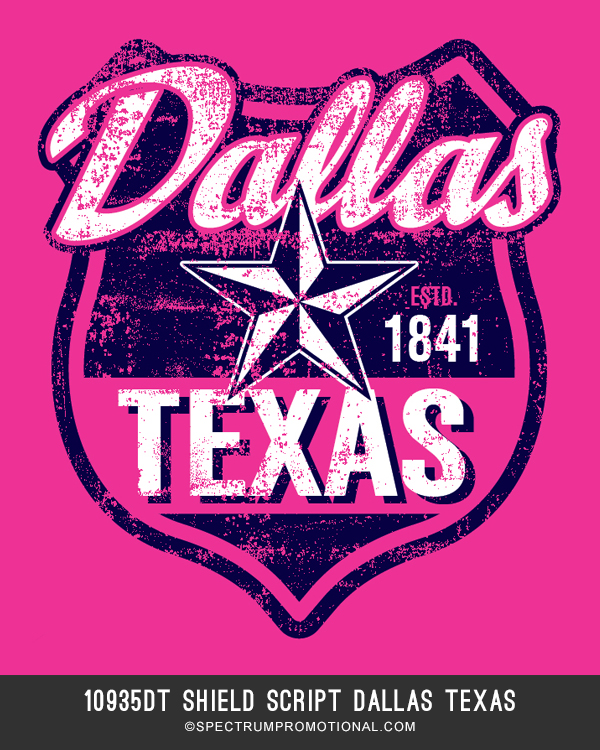 10935DT Shield Script Dallas Texas