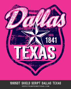 10935DT Shield Script Dallas Texas
