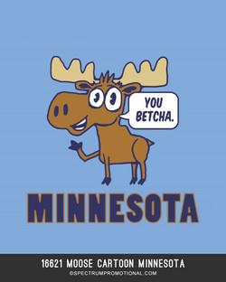 16621 Moose Cartoon Minnesota