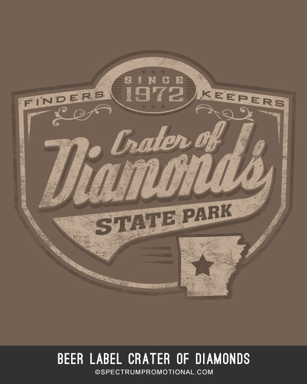 beer label Crater of Diamonds