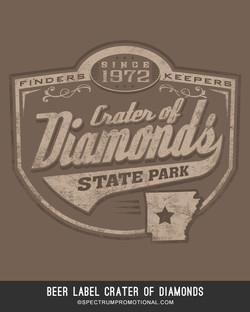 beer label Crater of Diamonds