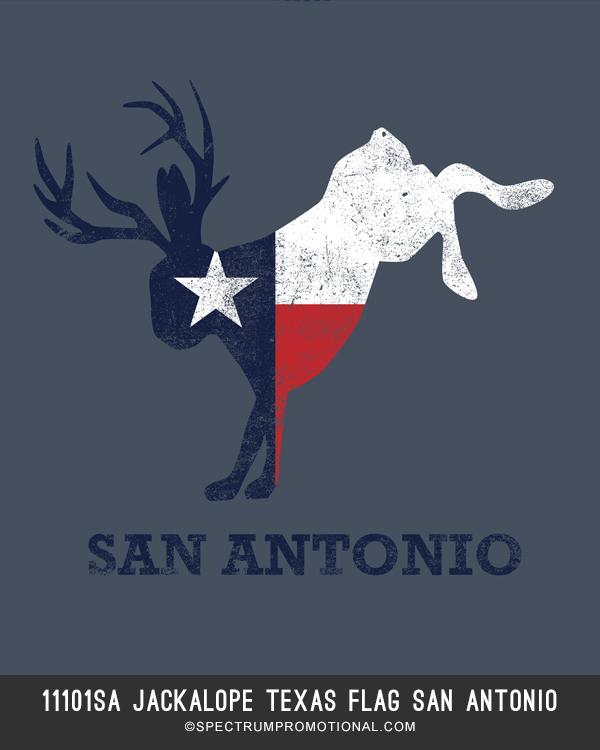 11101SA Jackalope Texas Flag San Antonio