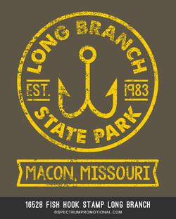 16528 Fish Hook Stamp Long Branch