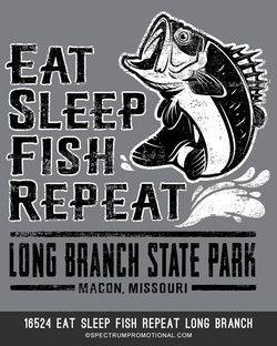 16524 Eat Sleep Fish Repeat Long Branch.