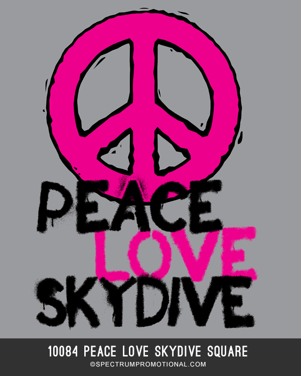 10084 Peace Love Skydive Square