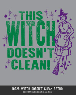 10228 Witch Doesn't Clean Retro