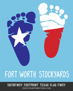 13376FWSY Footprint Texas Flag FWSY