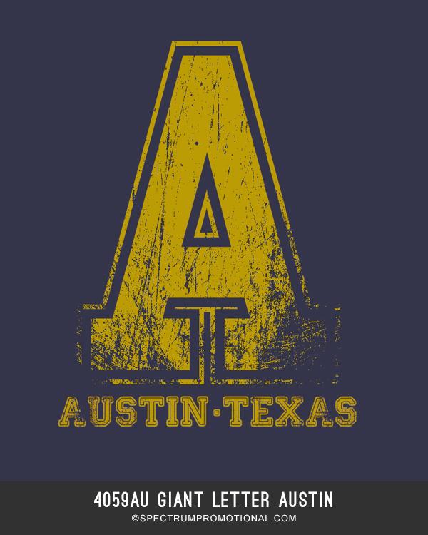 4059AU Giant Letter Austin