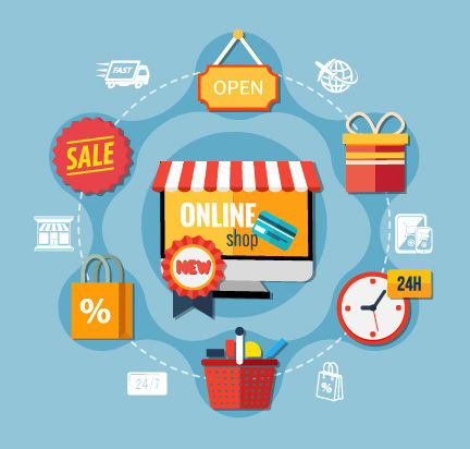 Web store illustration