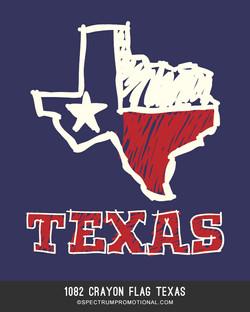 1082 Crayon Flag Texas