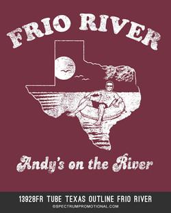 13928FR Tube Texas Outline Frio River