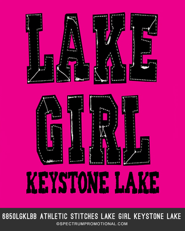 6850LGLKBB Athletic Stitches Lake Girl Keystone Lake