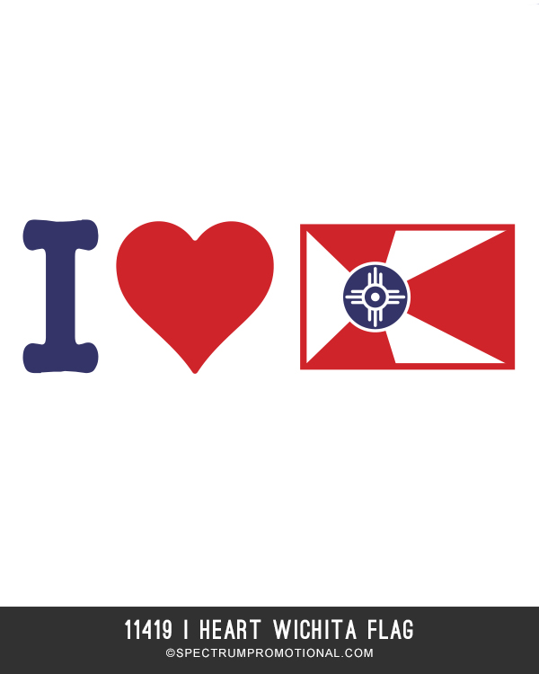11419 I HEART WICHITA FLAG