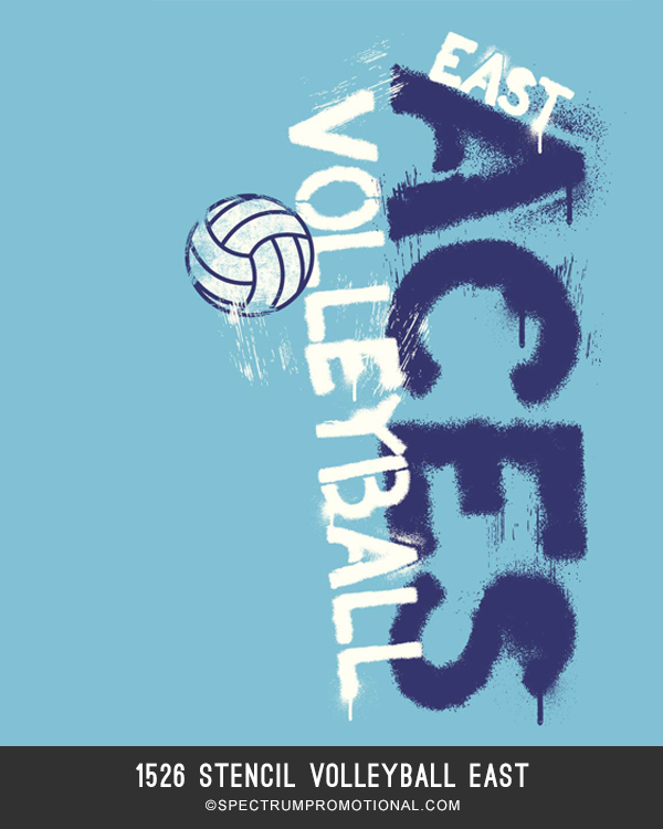 1526stencilvolleyballeast